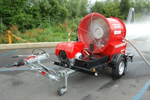 Large fan in operation - Rosenbauer