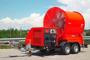 Large mobile fan on trailer - Rosenbauer