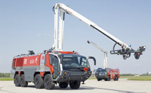 ARFF truck in operation on airport - Rosenbauer