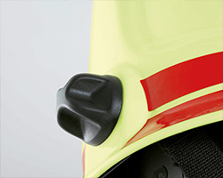 Size adjustment on fire fighting helmets - Rosenbauer