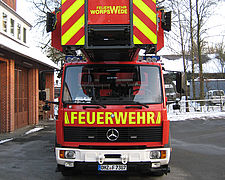 Ladder fire truck after renovation - Rosenbauer