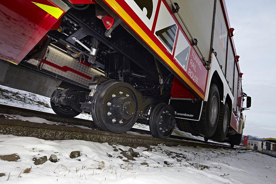 Giant Fire Trucks On Track Rosenbauer
