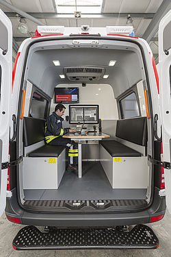Fire command vehicle interior - Rosenbauer