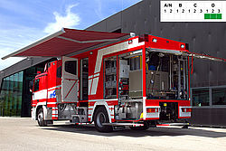 Decontamination vehicle SOF - Rosenbauer