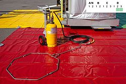 HAZMAT gear decon trolley - Rosenbauer