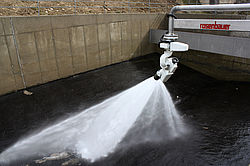 ARA Ternberg retention basin cleaning system - Rosenbauer