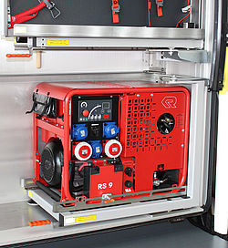 Portable power generator functions - Rosenbauer
