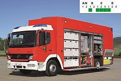 HAZMAT vehicle for large operations - Rosenbauer