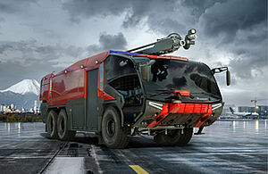 Airport fire truck of PANTHER series - Rosenbauer
