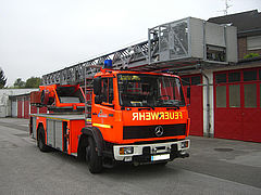Used aerials before refurbishment - Rosenbauer