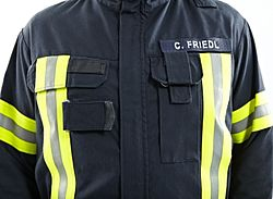 Chest pockets technical rescue clothing - Rosenbauer