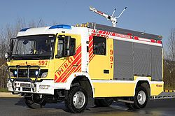 Rosenbauer RM24 on vehicle