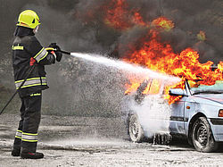 Rosenbauer POLY MOBILE SL75-100 - extinguishing performance