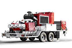 Engine pump trailer - Rosenbauer