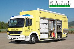 HAZMAT SOF decontamination vehicle - Rosenbauer
