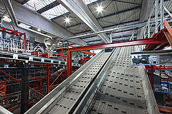 Waste recycling plant fire protection conveyor belt - Rosenbauer