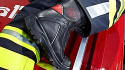 Fire fighting boots in operation - Rosenbauer
