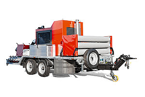 Trailer mounted fire pump - Rosenbauer
