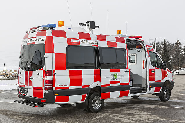 Fire command vehicle at the airport - Rosenbauer