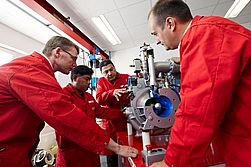 Technical training in Rosenbauer training center