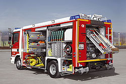 Small fire truck with equipment - Rosenbauer