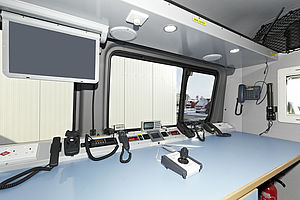 Mobile command posts for airport firefighting - Rosenbauer