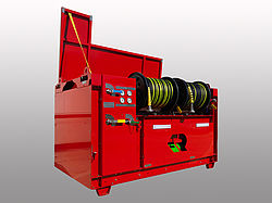 Offshore fire protection with POLY CAFS - Rosenbauer