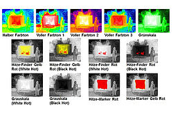 Infrared thermographic camera color modes - Rosenbauer