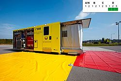 Swap body decontamination with separation - Rosenbauer
