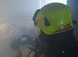 Infrared thermographic camera in action - Rosenbauer