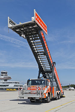 Escape stair E8000 front view - Rosenbauer