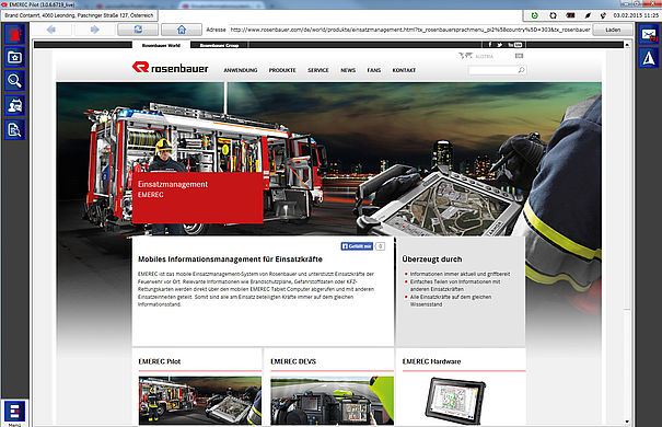 Mobile information management with internet - Rosenbauer