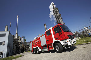 Industrial foam fire fighting vehicles - Rosenbauer