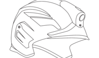 Template white helmet