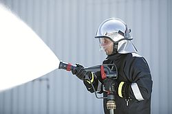High pressure fog gun spray jet - Rosenbauer