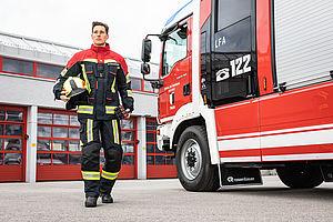 Ubranie FIRE FLEX CNBOP Granatowo- czerwony