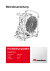 User manual FANERGY B16