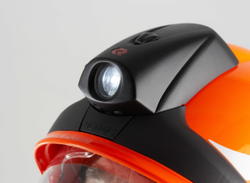 Rosenbauer fire helmet with integrated lamp