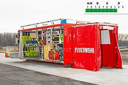 Swap body HAZMAT for large operations - Rosenbauer