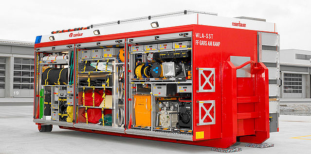 Swap body decontamination HAZMAT fully equipped - Rosenbauer