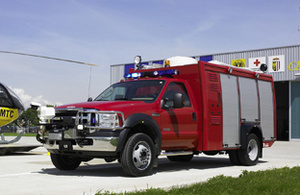 Airport fire engine for rapid intervention - Rosenbauer