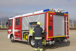 Compartment shutters with electrical operation - Rosenbauer