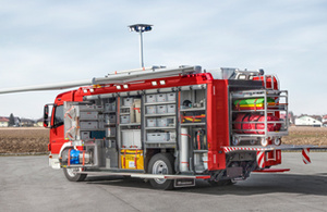 Rescue truck for HAZMAT operations - Rosenbauer