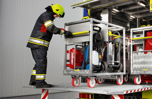 Fire truck equipment easy to transport - Rosenbauer