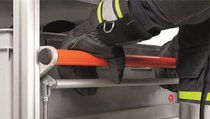 Roll-on containers with dead man's brakes - Rosenbauer