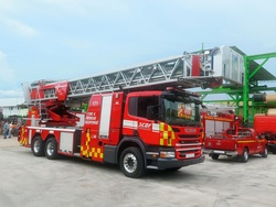 Rosenbauer aerial ladder multifunctional vehicle