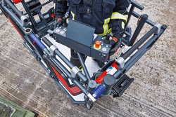 Rosenbauer rescue cage swiveling control panel