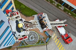 Rosenbauer aerial ladder - Rescue lift