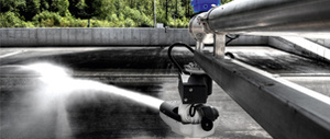 Fire safety system as cleaning facility - Rosenbauer