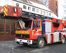 Used aerials after refurbishment - Rosenbauer